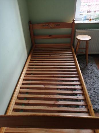 Łóżko 90 cm drewniane