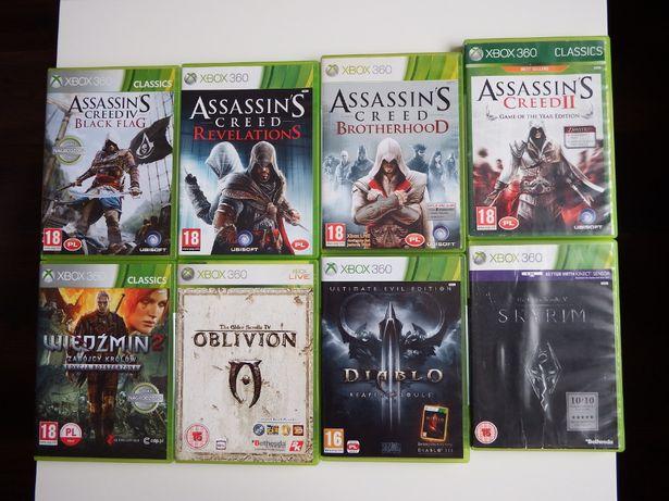 XBOX 360 GRY Assasins Creed WIEDŹMIN Skyrim DIABLO 3 super gierki xbox