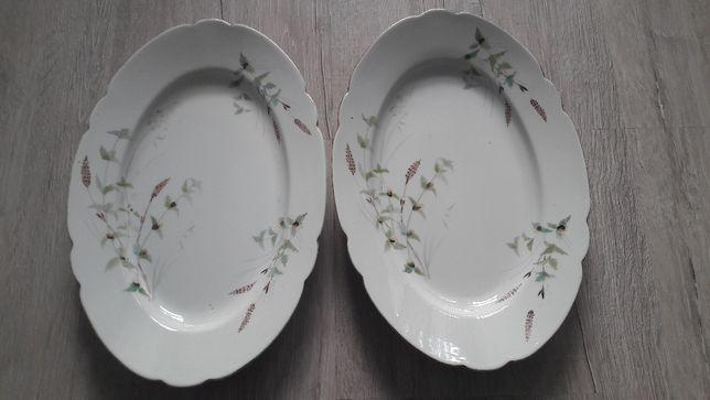 dwa półmiski, porcelana  Ćmielów- retro