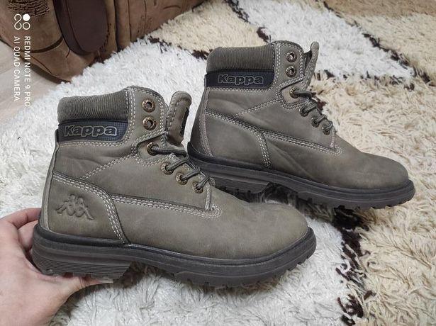 Демисезонные брендовые натуральные ботинки Kappa 37 р-р на 23,5-24 cм
