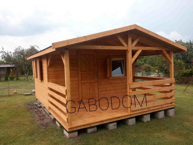 Domek drewniany ZUZA24M2 duże okna letniskowy ogrodowe domki drewniane