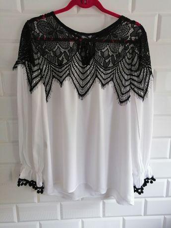 Koszula biała, ażurowa, haft Varlesca