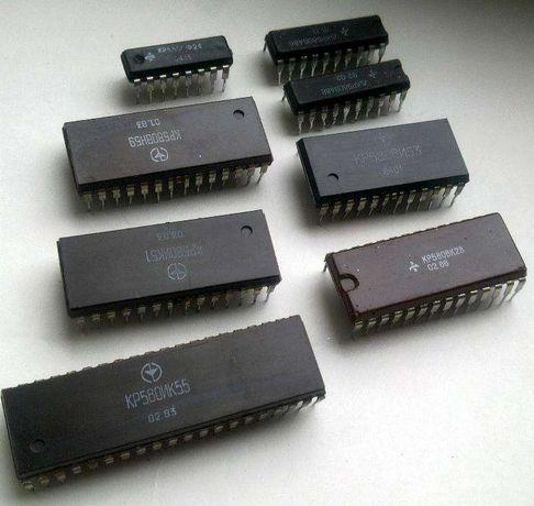 Микросхемы серии КР580 новые (например ВВ55А)
