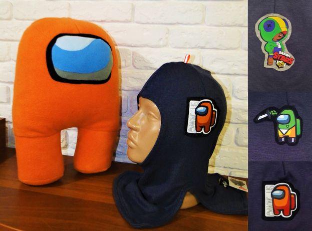 Шапка шлем демисезонные хлопковые и зимние вязаные- модели разные.