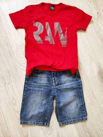 Spodenki jeansowe plus koszulka G-star