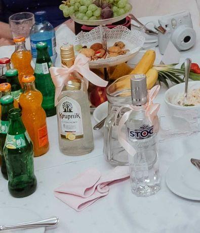 Kokardki zawieszki na alkohol kolor brzoskwiniowy