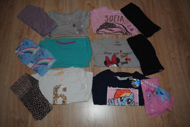 05->bluzka legginsy Ponny RESERVED C&A księżniczka ZOSIA H&M r 104/110