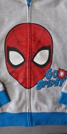 Bluza chłopięca Spider man r.134 jak nowa!