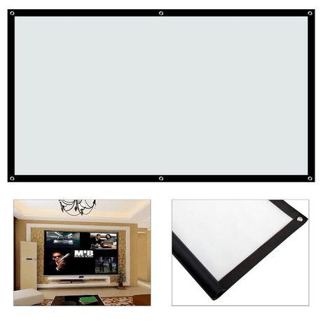 Натяжной экран для проектора 72 дюйма 152*88см 100 дюймов 220х125см