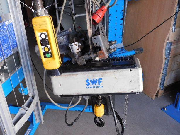 Elektryczny wciągnik łańcuchowy SWF 500kg suwnica z płynną jazdą demag