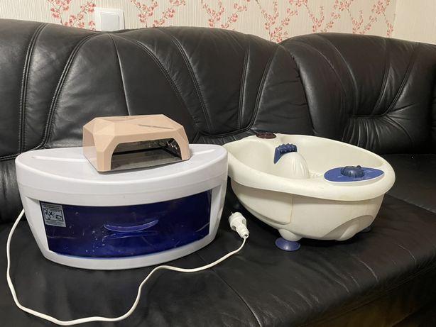 Led Лампа, Уф стерилизатор, ванночка для педикюра