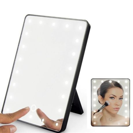 Сенсорное настольное зеркало для макияжа с LED-подсветкой