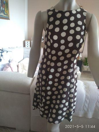 PRINCIPLES sukienka w grochy, taliowana 38