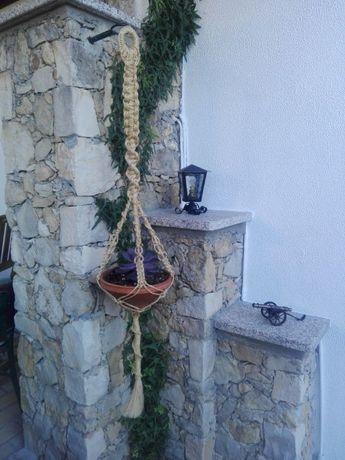 Suporte para vasos/plantas em macramé - Corda de sisal ou algodão