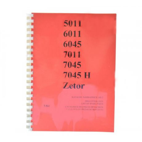 Katalog części Zetor (3/84), Mod: 5011, 6011, 6045, 7011, 7045, 7045H