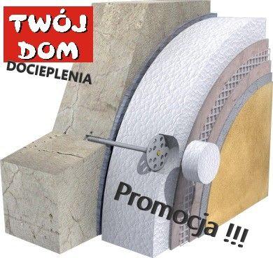 DOCIEPLENIA kompletny system 15cm 5 lat Gwarancji Tynk Styropian Kleje