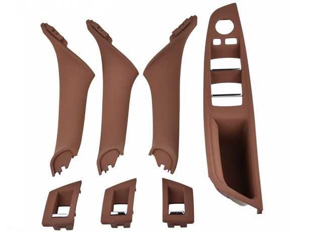 Kit 7 Puxadores Pega Interior Portas BMW Serie 5 F10 F11 F18 (NOVO)
