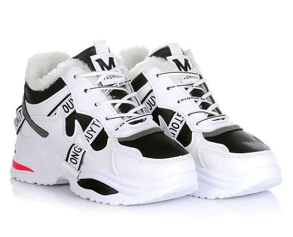 Белые женские ботинки кроссовки зима зимние обувь! 36-41 ХИТ! НАЛОЖКА!