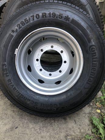 Шини 285/70/19.5 Continental HS3, та диски MAN 7.50*19,5