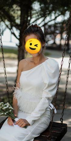 Suknia biała rozmiar S