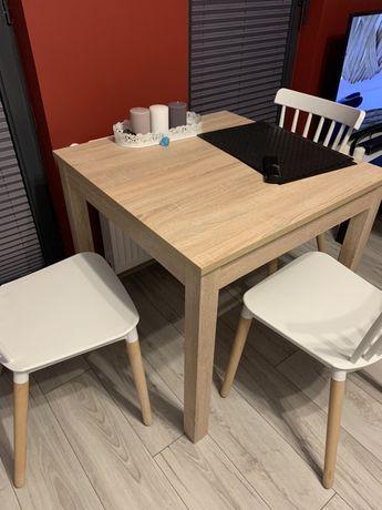 Stół do jadalni kuchni 80x80 dąb sonoma
