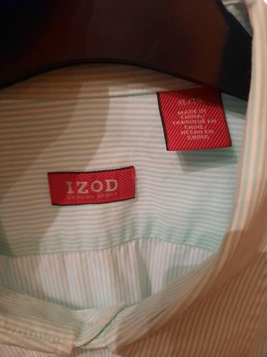 Męska koszula w miętowe paski r.XL Kostrzyn - image 1