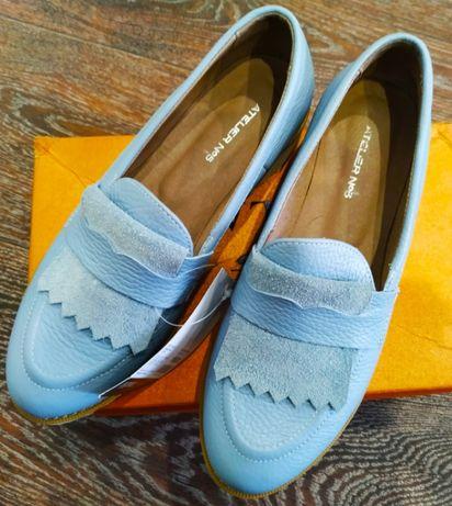 Туфли, мокасины,  лоферы женские , натуральная кожа