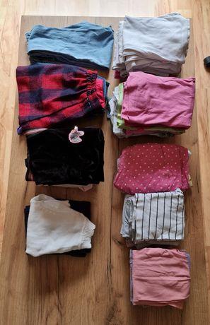 Zestaw ubrań paka dla dziewczynki 5-6lat bluzki spodnie spódniczki