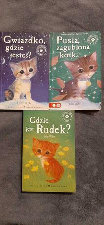 Komplet 3 książek Holly Webb o przygodach z kotkami