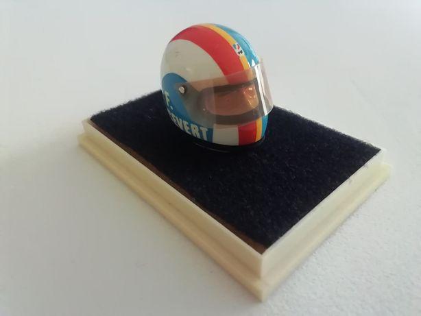 1/18 Capacete FRANÇOIS CEVERT - Raro (Miniatura - JF Creations)