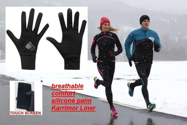 Лучшая цена! Перчатки для бега Karrimor Liner беговые спортивные