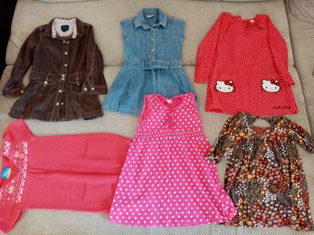 Ubranka dla dziewczynki 3-4 lata-34 sztuki