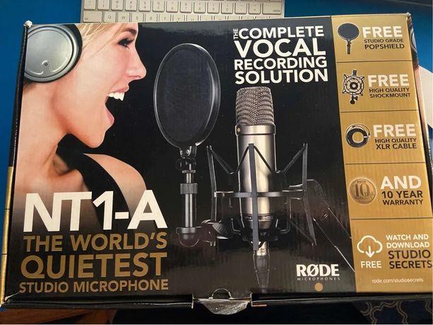 Microfone Estúdio NOVO  Rode NT-1A
