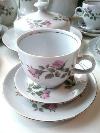 Винтаж,чайно- кофейный сервиз, фарфор, набор посуды, Германия, ГДР.