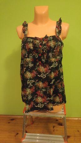 Bluzka kwiaty falbanki oversize ciążowa
