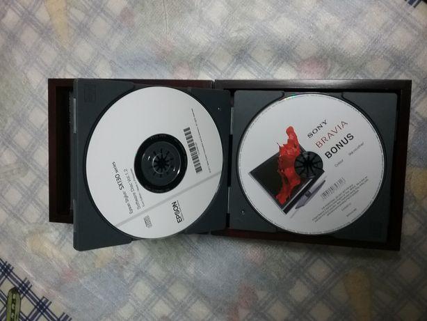 Caixa para DVDs/CDs/blu ray