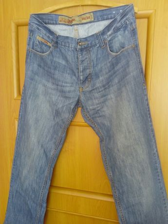 Spodnie męskie jeansowe roz 34