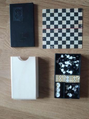Набор ссср. Шахматы, шашки, домино, кости.