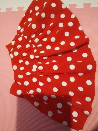 Spódniczka czerwona w kropki rozmiar 122