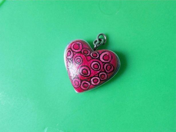 Srebrne serce (dwustronne)