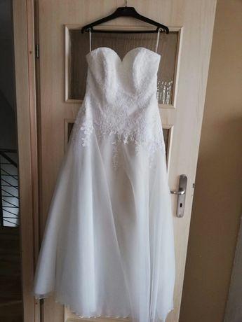 Suknia ślubna ecru, rozmiar 36-38