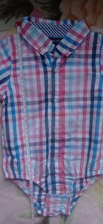 Рубашка бодик, боди рубашка, рубашка