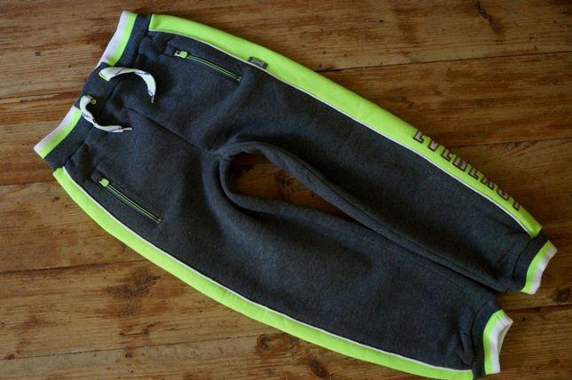 EVERLAST - oryginalne spodnie dresowe 7-8lat neon