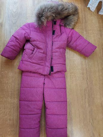 Зимний комплект для девочки штаны +курточка