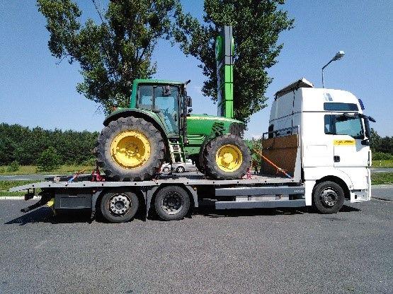 POMOC DROGOWA LAWETA 14 TON Transport Maszyn Budowlanych Rolniczych