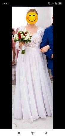 Suknia ślubna + Welon. Polecam!
