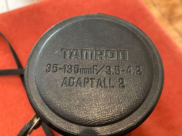 Estojo vintage da Tamron para objectivas