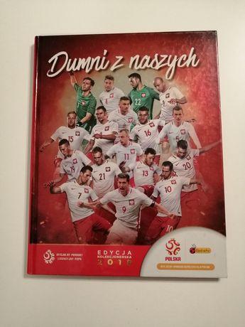 """Album piłkarski """"Dumni z naszych"""" karty+naklejki"""