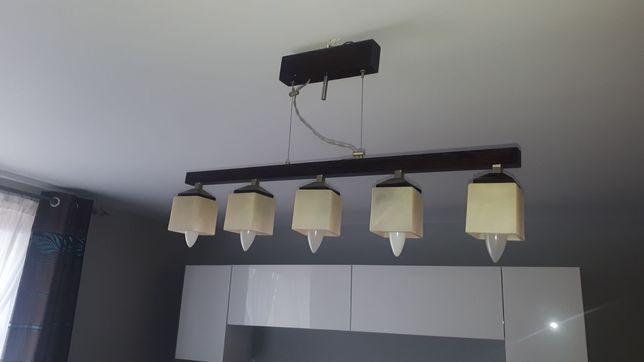 Lampa wisząca z 5 kloszami