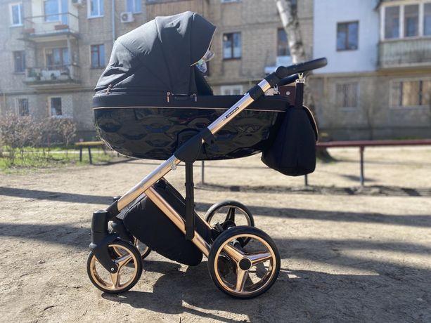 Стильная универсальная детская коляска 2 в 1 Adamex Chantal Polar C8